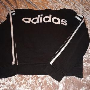 Medium Adidas Black & White Hoodie